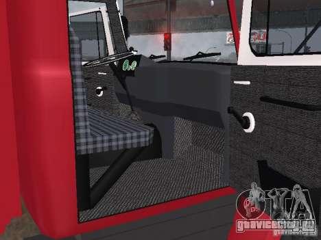 ГАЗ 3309 Пожарная для GTA San Andreas вид сзади