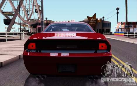 Dodge Challenger Rampage Customs для GTA San Andreas вид сверху