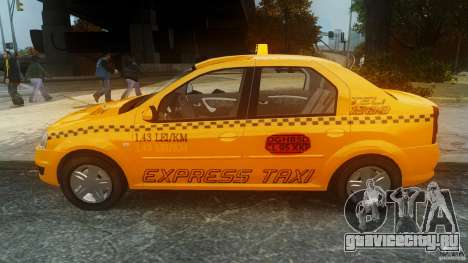 Dacia Logan Facelift Taxi для GTA 4 вид слева