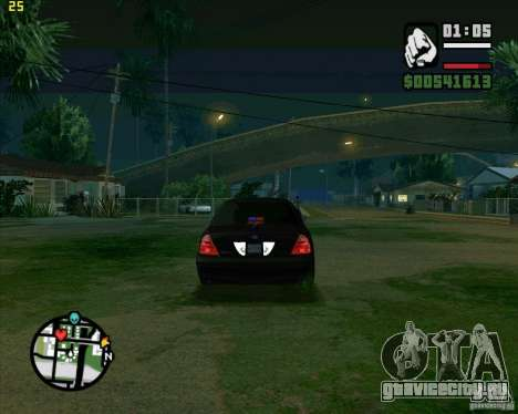 Ford Crown Victoria FBI для GTA San Andreas вид справа