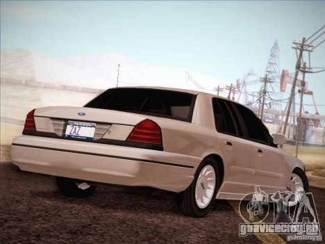 Ford Crown Victoria Interceptor для GTA San Andreas вид сбоку
