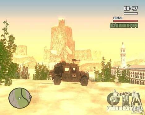 Hummer H1 из COD MW 2 для GTA San Andreas вид изнутри