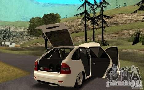 Lada 2172 Priora Хетчбек для GTA San Andreas вид изнутри