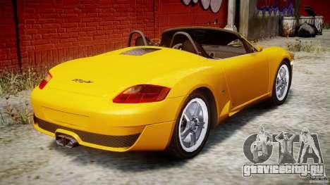 Ruf RK Spyder v0.8Beta для GTA 4 вид сверху