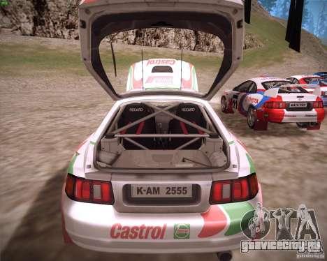 Toyota Celica ST-205 GT-Four Rally для GTA San Andreas вид сзади