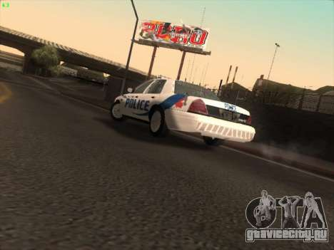 Ford Crown Victoria Vancouver Police для GTA San Andreas вид изнутри