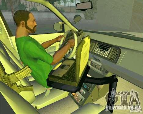 Ford Crown Victoria 2003 NYPD police V2.0 для GTA San Andreas вид сбоку