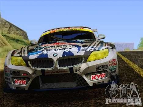 BMW Z4 E89 GT3 2010 Final для GTA San Andreas салон