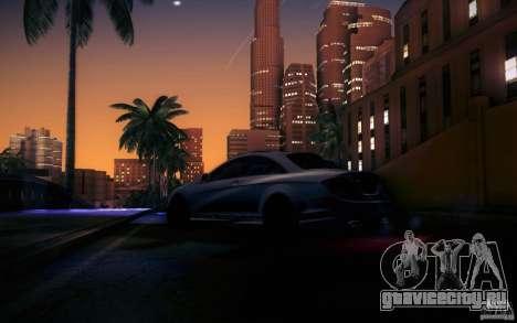 Mercedes Benz CL65 AMG для GTA San Andreas вид снизу