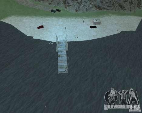 Оживлённый пляж Palomino Creek для GTA San Andreas третий скриншот