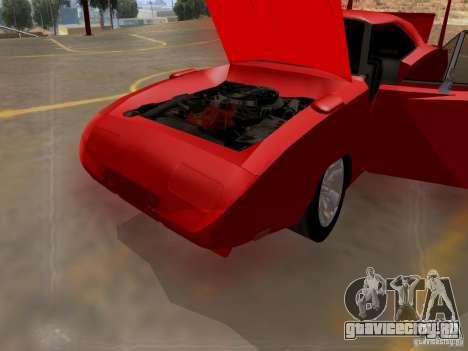 Dodge Charger Daytona 440 для GTA San Andreas вид изнутри