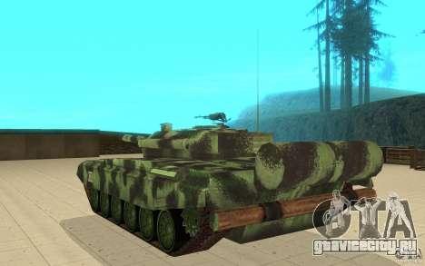 Танк T-72 для GTA San Andreas вид сзади слева