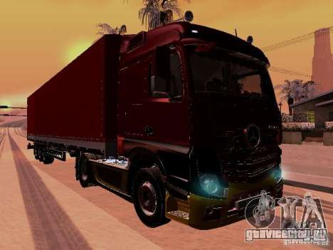 Mercedes Benz Actros MP4 для GTA San Andreas вид изнутри