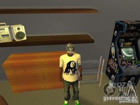 Футболка с Бобом Марли для GTA San Andreas