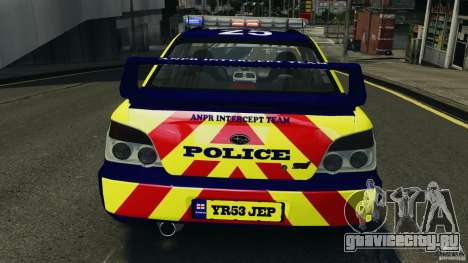 Subaru Impreza British ANPR [ELS] для GTA 4 салон