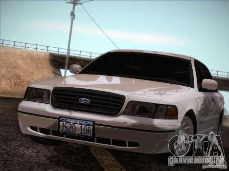 Ford Crown Victoria Interceptor для GTA San Andreas вид изнутри