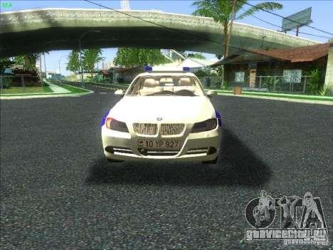 BMW 330i YPX для GTA San Andreas вид сверху