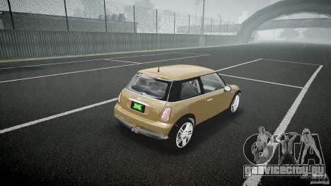 Mini Cooper S для GTA 4 вид сбоку