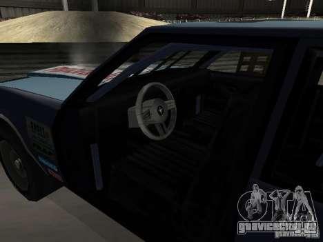 GreenWood Racer для GTA San Andreas вид изнутри