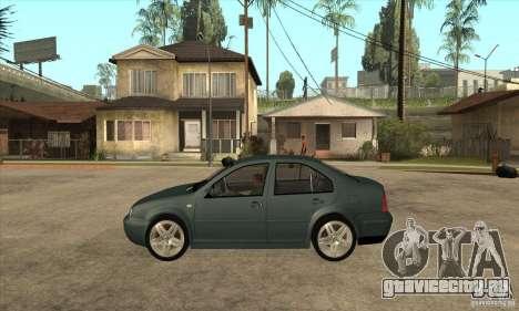 Volkswagen Bora-Golf для GTA San Andreas вид слева