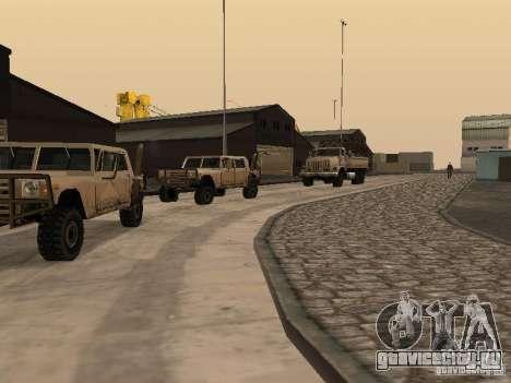 Ожившая военная база в доках V3.0 для GTA San Andreas