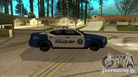 Dodge Charger Los-Santos Police для GTA San Andreas вид справа