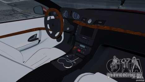 Maserati Gran Turismo 2008 Beta для GTA 4 вид изнутри