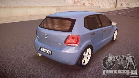 Volkswagen Polo 2011 для GTA 4 вид сверху
