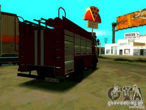 МАЗ 533702 АЦ-2,5–40 для GTA San Andreas вид сзади слева