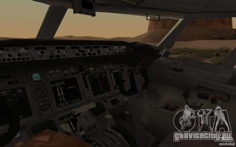 Boeing 737-800 для GTA San Andreas вид сзади