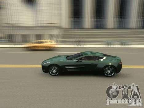 Aston Martin One 77 2012 для GTA 4 вид изнутри