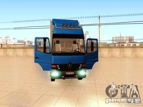 Mercedes-Benz Atego для GTA San Andreas вид изнутри