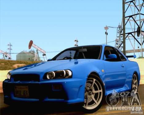 Nissan Skyline R34 для GTA San Andreas вид справа