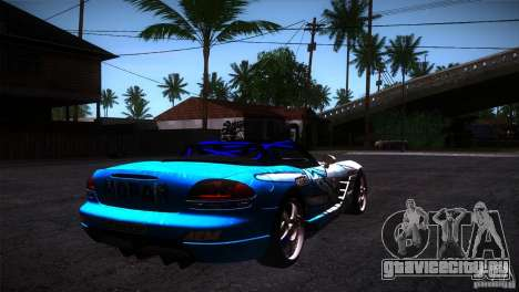 Dodge Viper Mopar Drift для GTA San Andreas вид справа