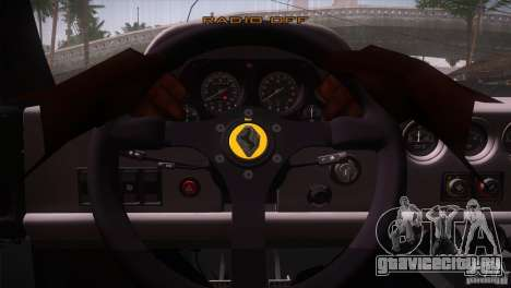 Ferrari F40 для GTA San Andreas вид сверху
