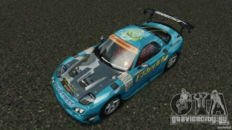 Mazda RX-7 RE-Amemiya v2 для GTA 4 вид снизу