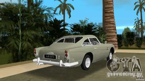 Aston Martin DB5 63-54 (JAMES BOND) для GTA Vice City вид сзади слева