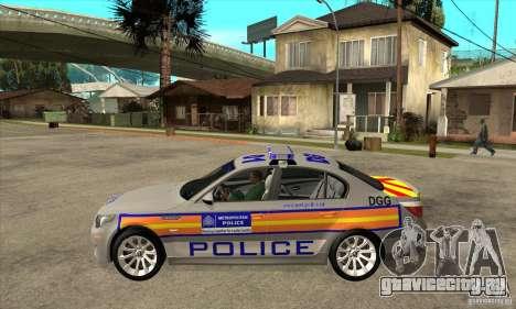 Metropolitan Police BMW 5 Series Saloon для GTA San Andreas вид слева
