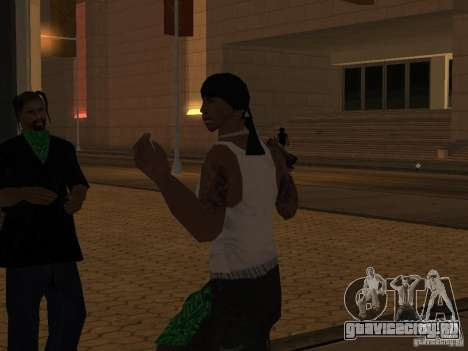 Замена всех скинов Grove Street Families для GTA San Andreas седьмой скриншот