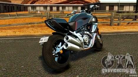 Ducati Diavel Carbon 2011 для GTA 4 вид сзади слева