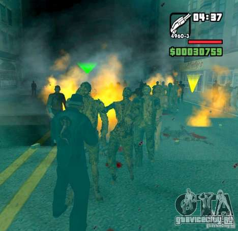 Zombie Alarm для GTA San Andreas второй скриншот