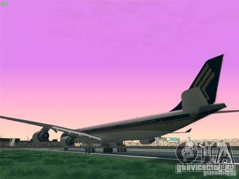 Airbus A340-600 Singapore Airlines для GTA San Andreas вид слева