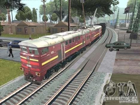 2ТЭ10У-0211 для GTA San Andreas вид сзади слева