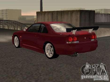 Nissan Skyline GT-R BCNR 33 для GTA San Andreas вид справа