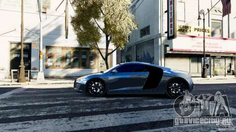 Audi R8 Spider 2011 для GTA 4 вид слева