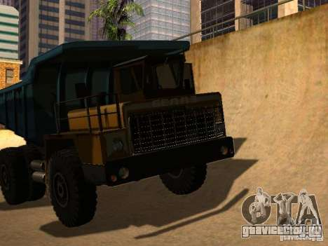 БелАЗ 540 для GTA San Andreas вид сзади слева