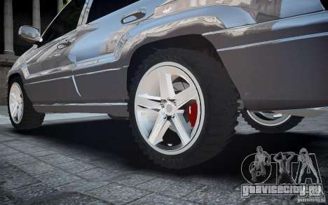 Jeep Grand Cheroke для GTA 4 вид снизу