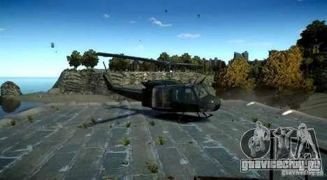 Bell UH-1D German Bundeswehr для GTA 4 вид сзади слева