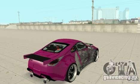 Nissan 350Z Tuning для GTA San Andreas вид сверху