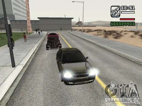 Lada Priora Light Tuning для GTA San Andreas вид слева